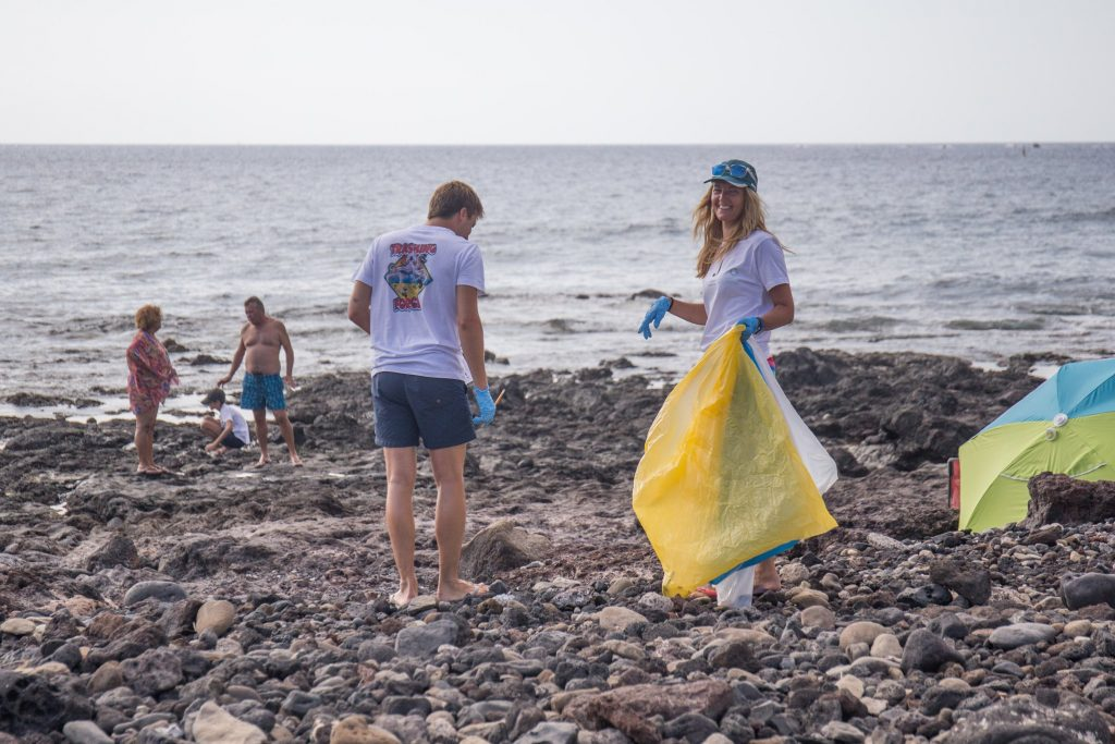 beach cleanup Canary Green