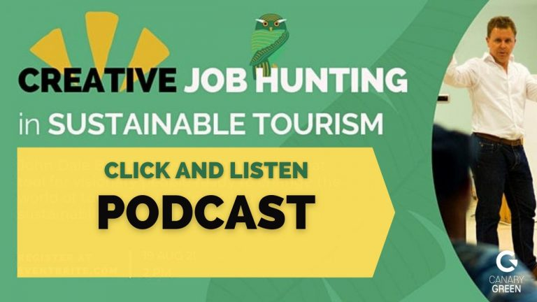 Creative Job Hunting - Sustainable Tourism John Beckley..